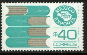 MEXICO Exporta 1466, $40P Books Unwmk Fluor Paper 8. MINT, NH. F-VF.