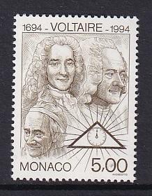 Monaco  #1930   MNH  1994  Voltaire  5fr