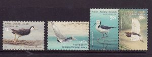 Cocos (Keeling) Is.-Sc#348-50-unused NH set-Birds-2008-