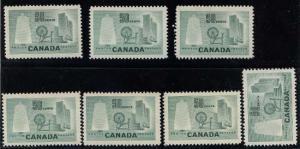 Canada USC #334 Mint 1953 50c Textile (7) VF-H Cat. $35.00 Net $6.49