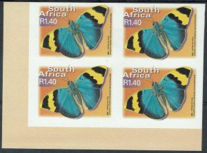 SOUTH AFRICA 2000 BUTTERFLY R1.40 IMPERF BLOCK MNH **