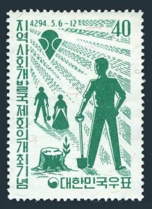 Korea South 324,MNH.Michel 324. Community Development Conference,1961.Workers.