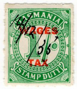 (I.B) Australia - Tasmania Revenue : Wages Tax 1/- (1935)