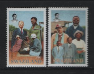 SWAZILAND 614-615 Hinged, 1992 Evangelical Alliance Mission in Swaziland