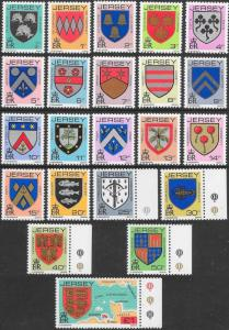 Jersey 246-266 MNH - Coat of Arms (Short Set - Missing £5)