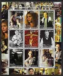 Turkmenistan 2000 72nd Annual Academy Awards People Art Film Actor Cinema Stamps