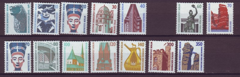 J25001 JLstamps 1987-90 germany berlin set mnh #9n543-57 no 50pf designs
