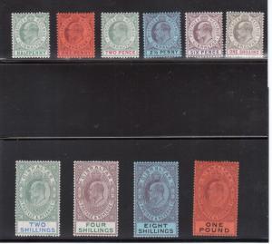 Gibraltar #39 - #48 (SG #46 - #55) VF Mint Fresh Set