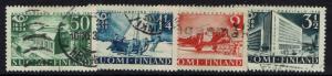 Finland SC# 215-218, Used, Hinge Remnant -  Lot 032617