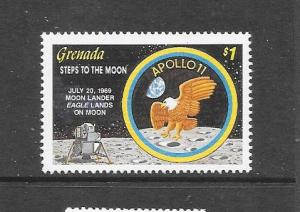 BIRDS - GRENADA #1738-SPACE-MOON LANDER EAGLE  MNH