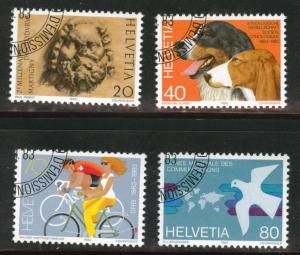 Switzerland Scott 740-743 MNH** 1983 precancel set