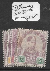 MALAYA   JOHORE  (P1107B)   SG 21-5   MOG
