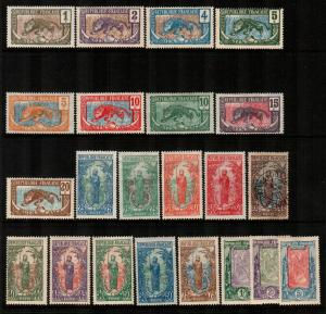 Middle Congo #1-22  Mint  Scott $133.45   #14 Used
