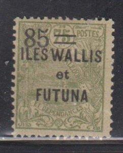 WALLIS & FORTUNA ISLANDS  Scott # 36 MH - Overprint & Surcharge
