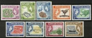 Pitcairn Islands 1957, QEII set complete to 1Sh VF MNH, Mi 20-28 cat 10,4€