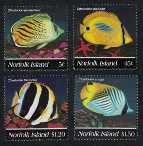 Norfolk Butterflyfishes 4v SG#591-594 SC#577-580