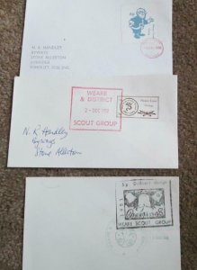 3 x Different Weare Scout Group Covers 1984