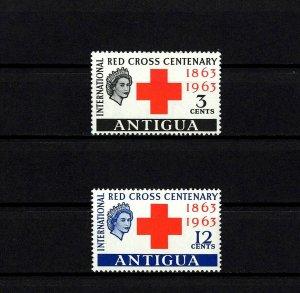 ANTIGUA - 1963 - QE II - RED CROSS CENTENARY - MINT - MLH - SET!