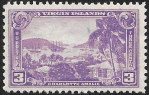 Sc 802  3¢ Virgin Islands Territorial, Single, MNH