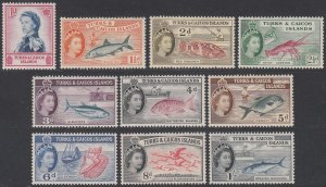 Turks And Caicos 121-130 MNH Short Set CV $8.90