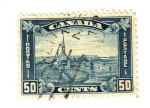 Canada Sc 176 1930 50c Grand Pre Church stamp used