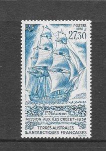 FRENCH SOUTHERN ANTARCTIC TERRITORY #210  SAILING SHIP  MH