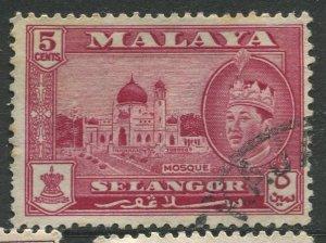 STAMP STATION PERTH Selangor #117 Sultan Salahuddin Abdul Aziz Shah Used 1961-62