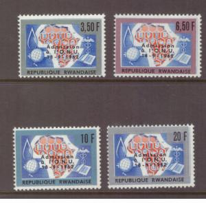 Rwanda MNH 1963 Admission to U.N. set mint stamps