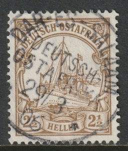 German East Africa 1905 Sc 22 used Dar-es-Salaam CDS