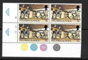 PITCAIRN ISLANDS SG179a 1981 15c DEFINITIVE BLOCK 4  MNH