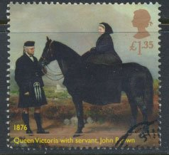 GB Used 2019 Queen Victoria Anniversary £1.35 value Queen with servant John ...