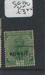 KUWAIT   (PP2704B) ON  INDIA KGV   1/2A  SG 16  VFU
