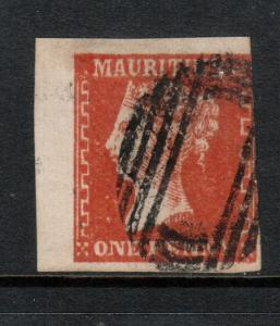 Mauritius #16a Used Upper Left Example