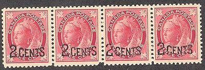 Canada  #87i  Narrow spacing strip 4  VF NH   - Cat $330