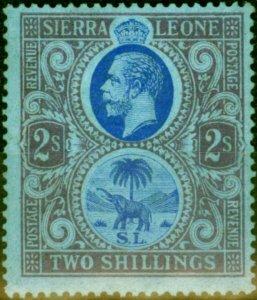 Sierra Leone 1921 2s Blue & Dull Purple-Blue SG144 Fine Lightly Mtd Mint