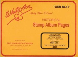 WHITE ACE 2020 United States US Regular Issue Blocks Album Supplement USR-BL51