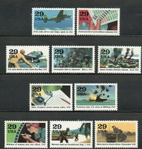 2697 (a-j) 1942 Into the Battle Set Of 10 Mint/nh (A-316)