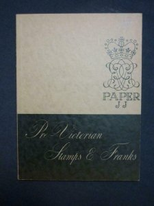 PRE-VICTORIAN STAMPS & FRANKS by BATCHELOR & PICTON-PHILLIPS