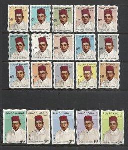 Morocco #169-73, 175-88 mnh cv $29.15