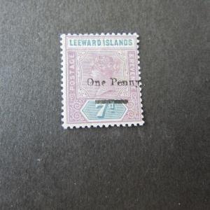 Leeward Islands 1890 Queen Victoria Sc 19 MH
