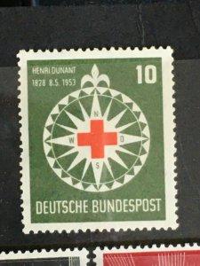 1953 Germany Red Cross Sc# 696, MNH
