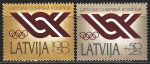 Latvia. 1992. 324-25. Latvian Olympic Committee. MNH.