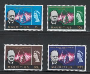 Mauritius 1966 Churchill Omnibus Scott # 295 - 298 MH