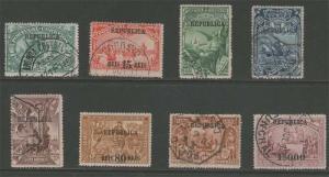 Portugal 1911 Sc 185-192 FU (one mint)
