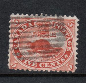 Canada #15iv Used Fine Thin Paper Variety **With Certificate**