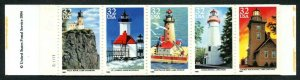 U.S. Scott 2969-2973 MNH Intact Great Lakes Lighthouses Booklet