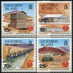 ASCENSION 1992 - Scott# 540-3 Airfield Set of 4 NH