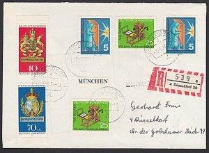 GERMANY 1974 registered cover - nice franking...............................K328