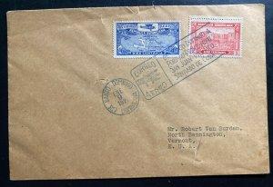 1920 Santo Domingo Dominican Rep First Flight Cover FFC To Bennington VT USA