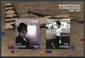 Curacao Aviation Stamps 2020 MNH Margareth Abraham Famous People 2v M/S